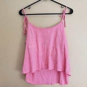 Victoria's Secret Pink Cami Tank Top Sz Large E6
